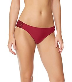 Jessica Simpson Lace Side Shirred Hipster Bottoms