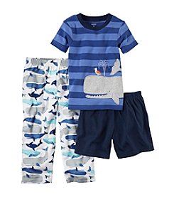 Carter's® Boys' 5-12 3-Piece Whale Pajama Set