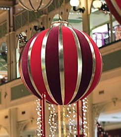 Northlight 7.5' Huge Red & Gold Inflatable Christmas Ornament Commercial Display Decoration
