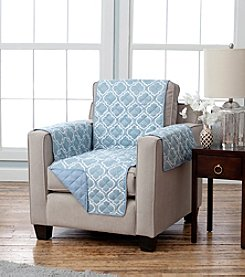 Home Fashions Adalyn Printed Reversible Chair Protector