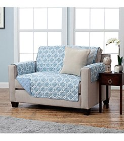 Home Fashions Adalyn Printed Reversible Loveseat or Sofa Protector