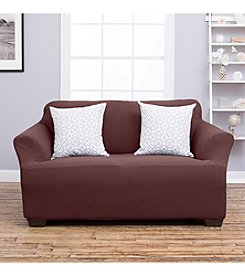 Home Fashions Cambria Collection Stretch Fit Form Loveseat or Sofa Slipcover
