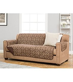 Home Fashions Katrina Collection Stain Resistant Printed Loveseat or Sofa Cover