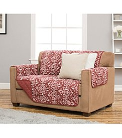 Home Fashions Kingston Collection Stain Resistant Printed Loveseat or Sofa Cover