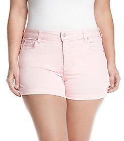 Celebrity Pink Plus Size Basic Cuff Shorts