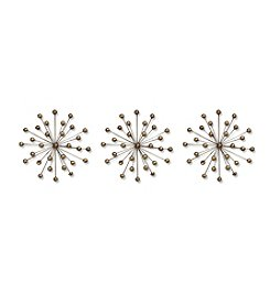 Stratton Home Decor Set of 3 Gold Burst