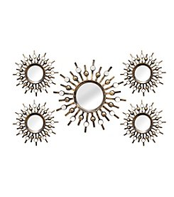Stratton Home Decor 5-Piece Burst Mirrors