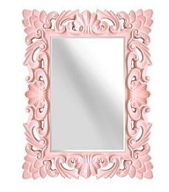 Stratton Home Decor Blush Elegant Ornate Wall Mirror