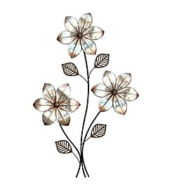 Stratton Home Decor Eclectic 3 Stem Floral Wall Decor