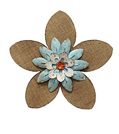 Stratton Home Decor Burlap Flower Wall Decor