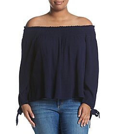 Living Doll® Plus Size Off-Shoulder Peasant Top