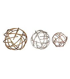 Stratton Home Decor 3-Piece Sphere Tabletop Decor