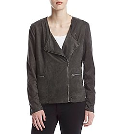 Relativity® Faux Suede Moto Jacket