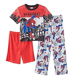 Marvel® Heroes Boys 4-10 3-Piece Spider-Man® Web Bed 3-Piece Set