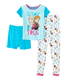 Disney® Girls' 4-10 3-Piece Frozen Sleepwear Set