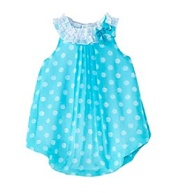 Cuddle Bear Baby Girls' Polka-Dot Bubble Romper