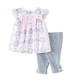 Cuddle Bear® Baby Girls' Medallion Top & Capri Set