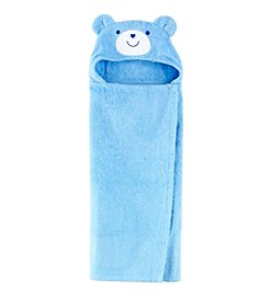 Cuddle Bear® Baby Boys Bear Hooded Towel