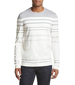 Michael Kors® Men's Long Sleeve Engineered Stripe Crew Neck Sweater