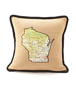 Taylor & Coultas Wisconsin Home Is Where Your Heart Is Decorative Pillow