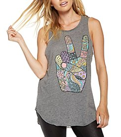 Chaser® Peace Shirt-Tail Tank