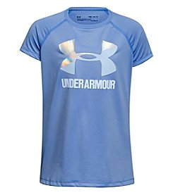 Under Armour® Girls' 7-16 Solid Big Logo Short Sleeve Tee