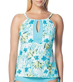 Beach House® Blair Spliced High Neck Tankini Top