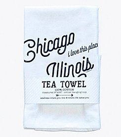 Tandem for Two Chicago Illinois Love Tea Towel