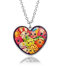Shopkins™ Children's Group Heart Pendant with Mixed Characters Pendant Necklace