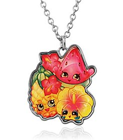 Shopkins™ Children's Tropical Character Group Pendant Necklace