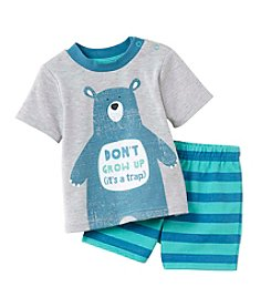 Cuddle Bear® Baby Boys Bear Top And Shorts Set