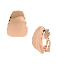 Robert Lee Morris Soho™ Sculptural Wide Wedge Clip On Earrings