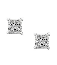 Effy® .32 ct t.w. Diamond Earrings in 14K White Gold