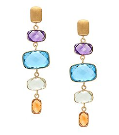 Effy® 14K Yellow Gold Gem Stone Drop Earrings