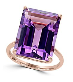 Effy® 14K Rose Gold Amethyst Ring