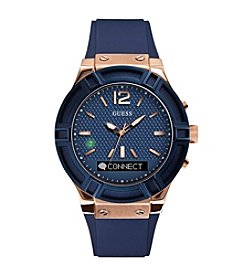 GUESS Men's 45mm Connect™ IP Blue Stainless Steel Smart Watch