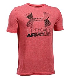 Under Armour® Boys' 8-20 Hybrid Big Logo Short Sleeve Tee