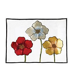 Pfaltzgraff® Painted Poppies Rectangular Glass Platter