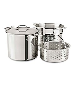 All-Clad® 8-Qt. Multi Cooker With Perforated Insert And Steamer Basket