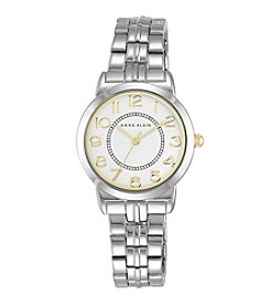 Anne Klein® Silvertone Bracelet Watch With Easy Reader Dial
