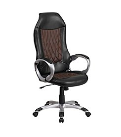 Flash Furniture High Back Fabric and Vinyl Executive Swivel Office Chair