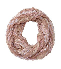 Collection 18 Boucle Chevron Pleated Loop Scarf