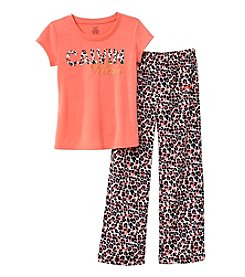 Calvin Klein Girls' 2-Piece Animal Print Top And Pant Set