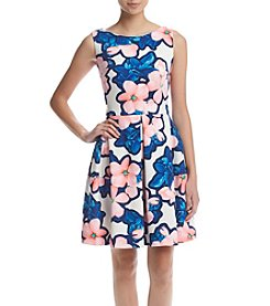 Taylor Dresses Floral Fit And Flare Dress