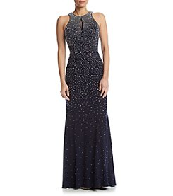 Xscape Beaded Ity Long Dress