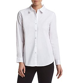 Cupio Button Front Collar Shirt