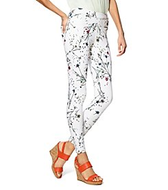HUE® Floral Curvy Fit Denim Leggings