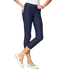 HUE® Essential Denim Capri Leggings