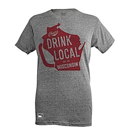 Brew City Brand Men's Short Sleeve Wisconsin Drink Local Pop Top Tee