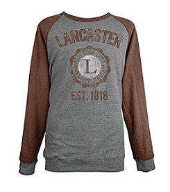 Brew City Brand Men's Long Sleeve Lancaster College Seal Raglan Fleece Tee